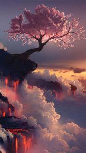 InSaluteInMalattia_Fuji Volcano, Japan, Asia, Geography, Cherry Blossom